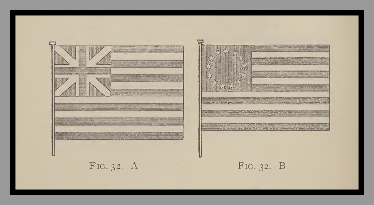 The Cambridge Flag and the Betsy Ross Flag